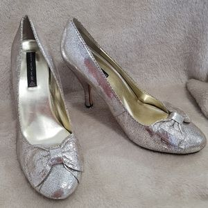 Steve Madden Closed Toe Sparkley Heels with Bow